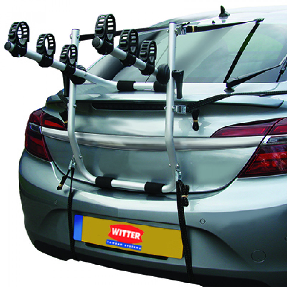 High Rear Mounted 3 Bike Cycle Carrier with Easy-Fit Cradles & Straps