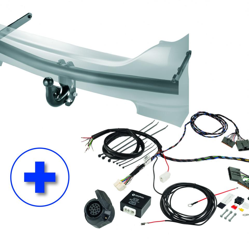 Westfalia KIT: Fixed Towbar (screwed) (F20) incl. Wiring Kit