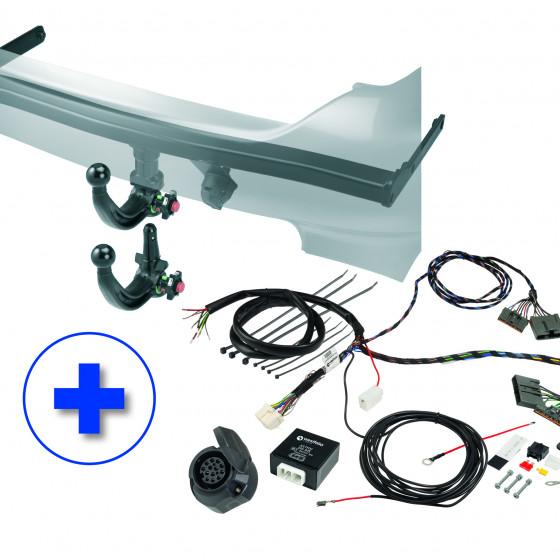 Westfalia KIT: Detachable Towbar (vertical) (A40V) incl. Wiring Kit