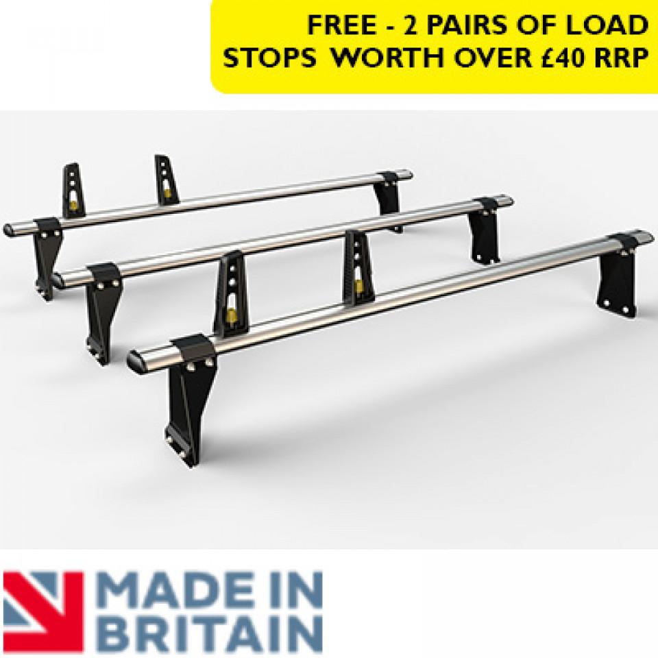3 Van Guard Aluminium Roof Bar Kit for LCVs (190mm brackets)