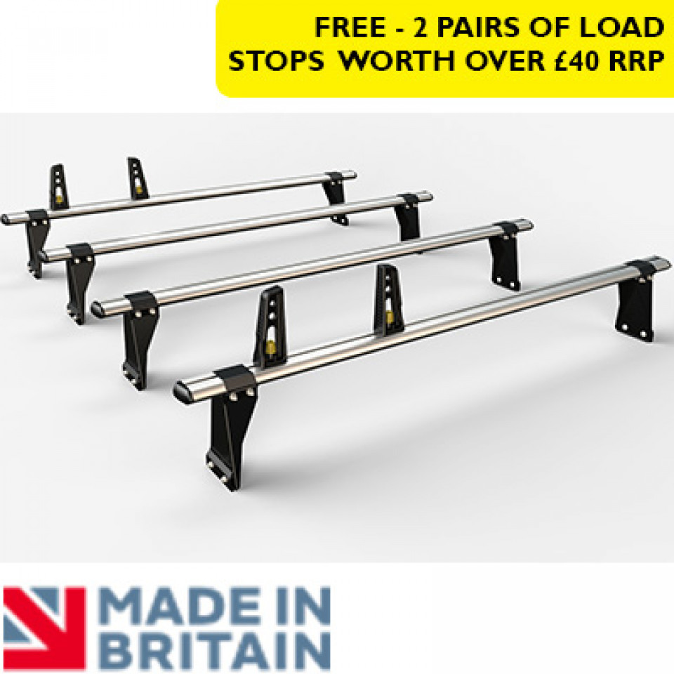 4 Van Guard Aluminium Roof Bar Kit for LCVs (190mm brackets)