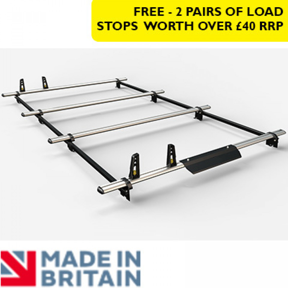 4 Van Guard Aluminium Roof Bar Kit for LCVs incl. wind deflector