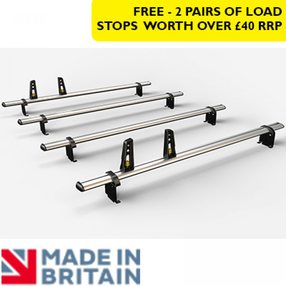4 Van Guard Aluminium Roof Bar Kit for LCVs