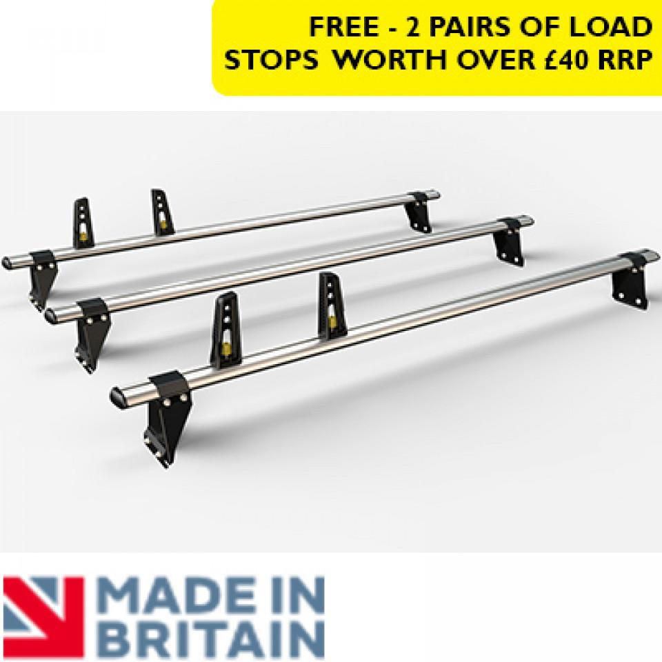 3 Van Guard Aluminium Roof Bar Kit for LCVs