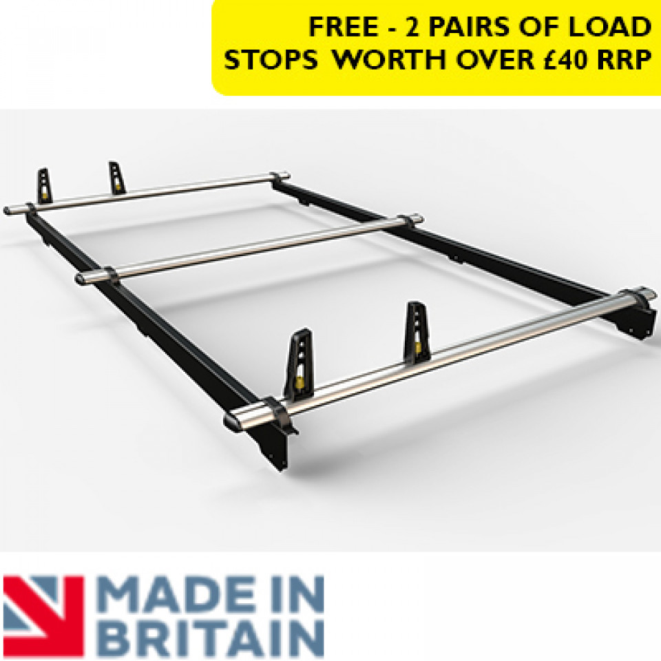 3 Van Guard Aluminium Roof Bar Kit for LCVs (8x4 capacity)