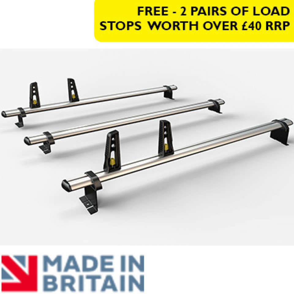 3 Van Guard Aluminium Roof Bar Kit for LCVs