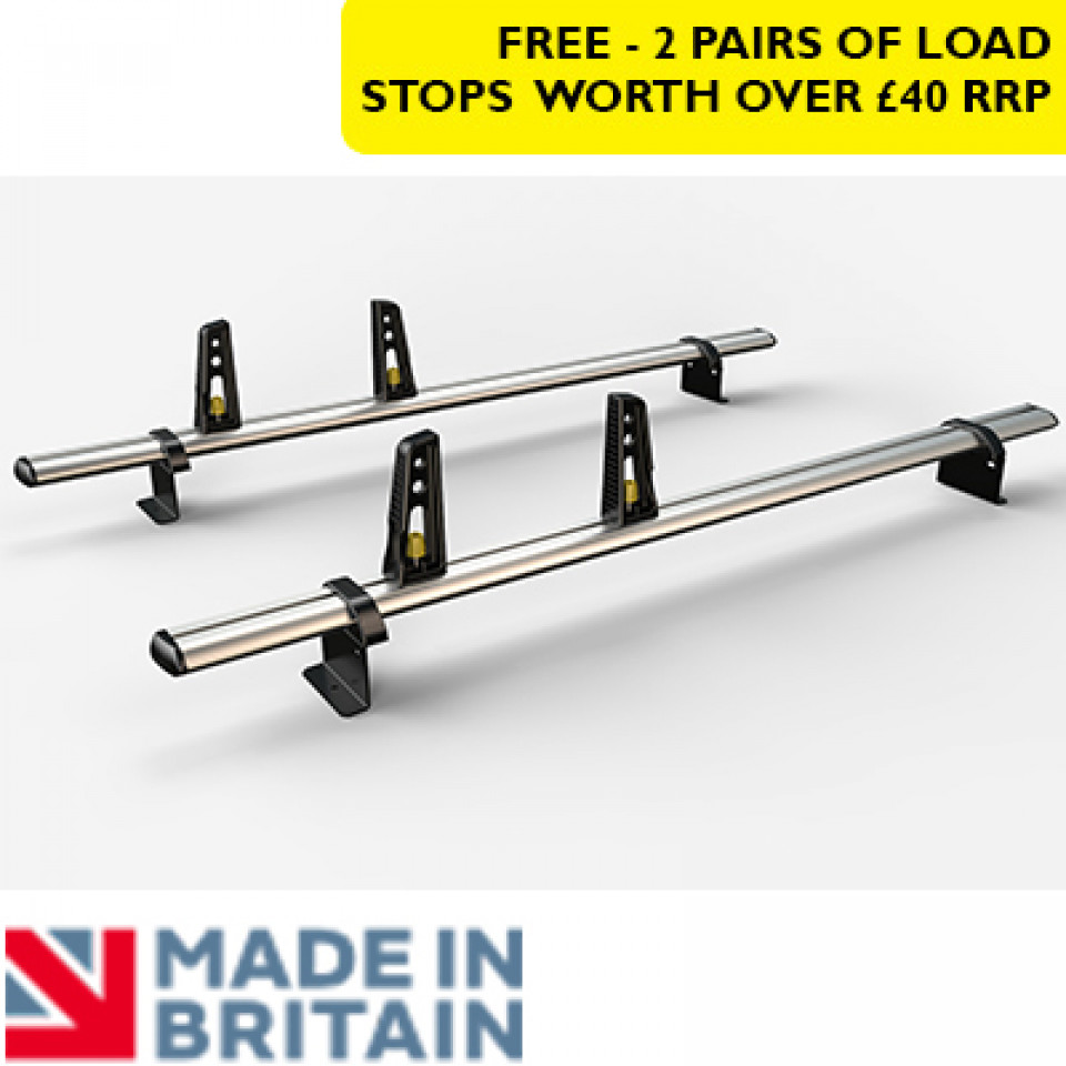 2 Van Guard Aluminium Roof Bar Kit for LCVs
