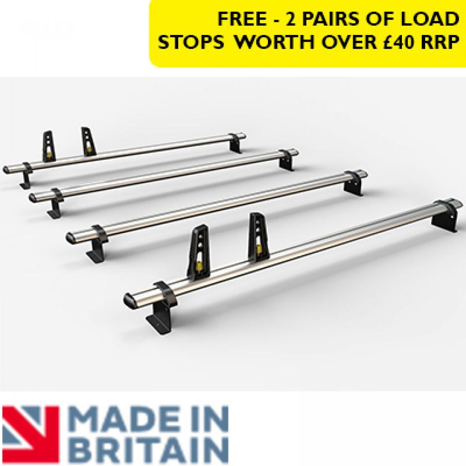 4 Van Guard Aluminium Roof Bar Kit for LCVs