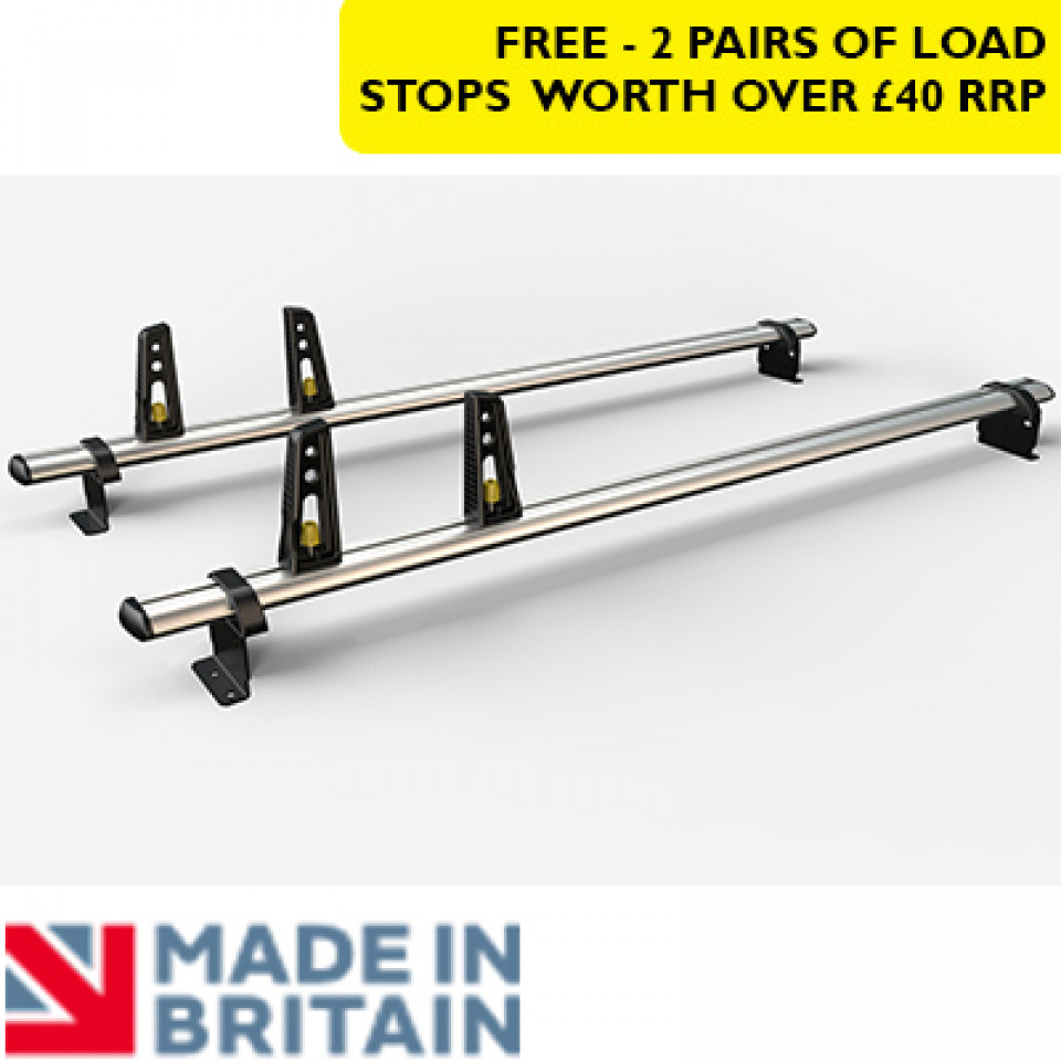 2 Van Guard Aluminium Roof Bar Kit for LCVs