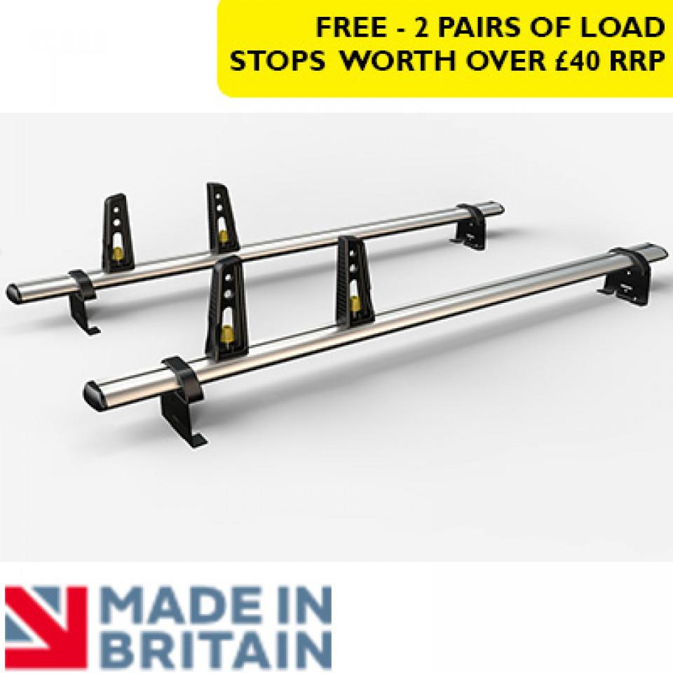 2 Van Guard Aluminium Roof Bar Kit for LCVs (130mm brackets)