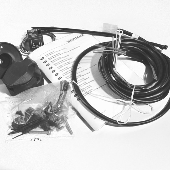 13 pins, Wiring kit universal, Universal wiring kit (13 pin) for vehicles without checkcontrol - turn signal monitoring: flash unit with C2 function (with adapter for deviant flash unit wiring)