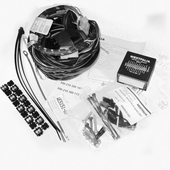 Universal wiring kit (7 pin) for vehicles with checkcontrol - turn signal monitoring: control unit with acoustic error message, Wiring kit universal, 7 pins